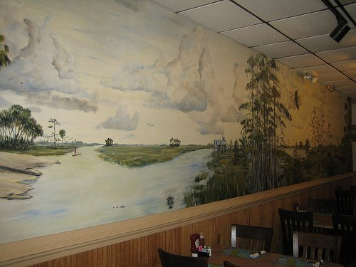 Interior Dining Room of The Catfish Place St. Cloud, Florida